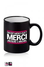 Mug Jacquie et Michel - Disponible en noir ou blanc, voici le mug officiel du site Jacquie et Michel.