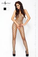 Combinaison filet Passion - Combinaison filet � larges mailles, avec ouverture intime � l'entre-jambes.