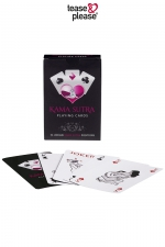 Jeux de cartes Kamasutra - Jeu de cartes au design chic avec la repr�sentation stylis�e d�une position du Kama Sutra sur chacune des 54 cartes.