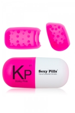 Masturbateur sexy pills Kinky pink - Mini masturbateur pour homme en Elastom�re ultra doux.
