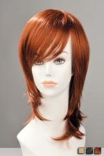Perruque Zoe - Une coupe jeune et moderne pleine de style avec cette perruque mi-longue effil�e, � m�che sur le cot�.