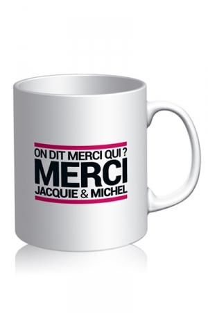 Mug Jacquie et Michel - blanc - Voici le mug officiel du site Jacquie et Michel, mod�le blanc.