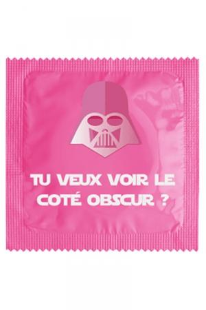 Préservatif humour - Tu Veux Voir Le Coté Obscur - Préservatif  Tu Veux Voir Le Coté Obscur , un préservatif personnalisé humoristique de qualité, fabriqué en France, marque Callvin.