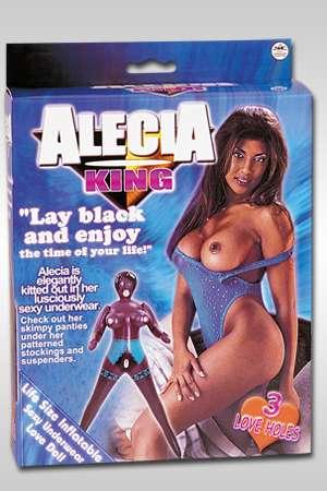 Alecia est une superbe tigresse noire aux gros seins avec 3 orifices accueillants et habillée de dessous sexy.