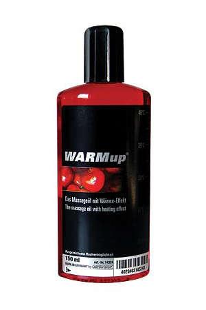 Huile de massage à l'effet légèrement chauffant parfumée à la cerise.