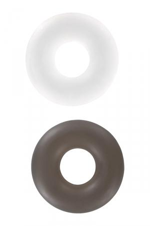 La noire pour la puissance, la blanche pour l'endurance, une paire de bagues d'érection extensibles à utiliser pour mieux gérer votre érection.