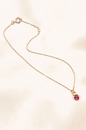 Chaine de cheville Cristal rose