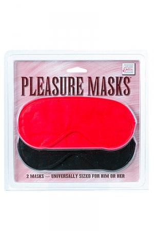 Assortiment de deux masques simples pour se bander les yeux et découvrir de nouveaux plaisirs en excitant différemment vos sens. 1 Noir, 1 rouge