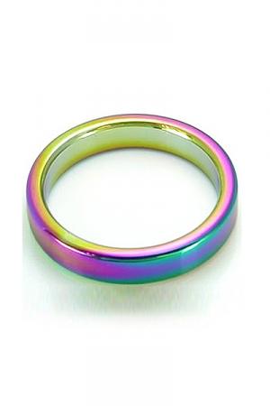 CockRing Rainbow acier : Cockring en acier inoxydable lourd haute qualit�, anodis� pour ajouter un effet visuel incomparable.