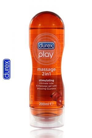 Le gel de massage Durex avec du Guarana, idéal pour la stimulation!