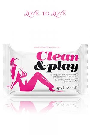 Clean & Play - pack de 10 lingettes nettoyantes