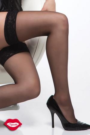 Bas nylon autofixants, de balles jambes sexy, sans porte-jarretelle !