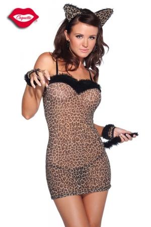 Costume chatte Felina : Ronronnez de plaisir dans ce costume de f�line sensuelle.