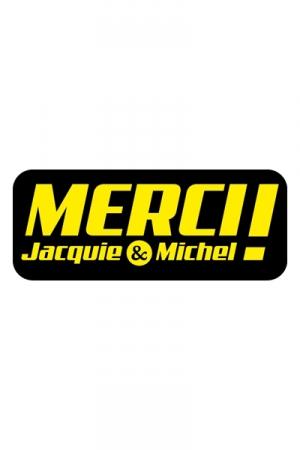 Autocollant J&M 13 x 5,2  cm