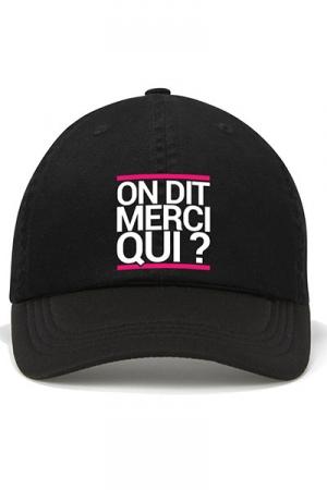 Casquette Jacquie et Michel - mod�le1 - La casquette  On dit merci qui? , pour permettre aux initi�s (nombreux) d'afficher leur passion commune.