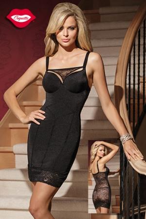 Robe moulante Amazing : Une robe sexy double effet : une silhouette de vamp ultra provocante devant, et un dos totalement offert sous la r�sille florale. Pour celles qui aiment s�duire, avec style !